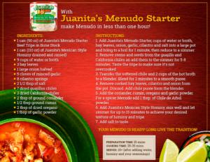 Recipe: How to cook your Menudo with Juanita's Menudo Starter?